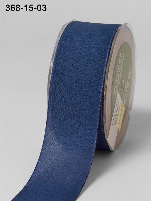 Мягкая полупрозрачная лента May Arts. Ширина 3,81 см. Синий