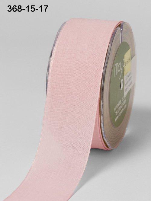 Мягкая полупрозрачная лента May Arts. Ширина 3,81 см. Розовый