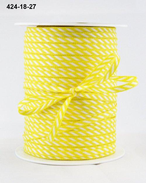 Лента от May Arts. Диагональные полосы. Ширина 0,32 см. Желтый
