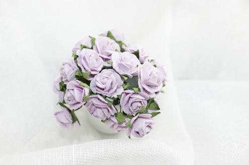 Розы 15 мм, фиолетовые10шт.