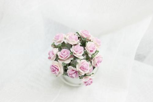 Розы 10 мм, пёстро-розовые 10шт.