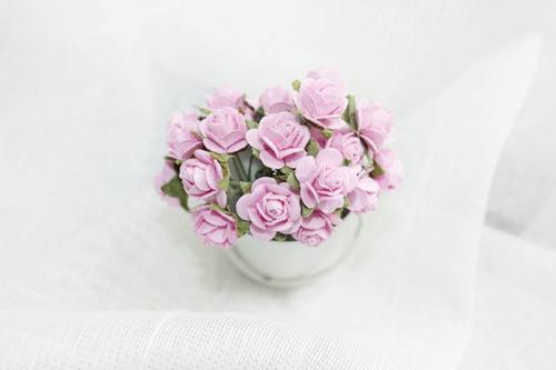 Розы 10 мм, розовые 10шт.