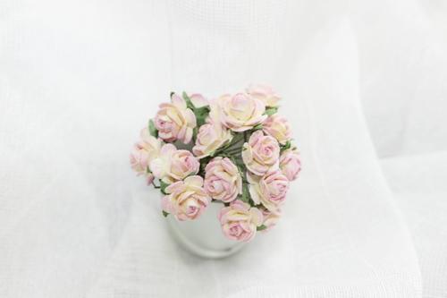 Розы 10 мм, розово-желтая 10шт.