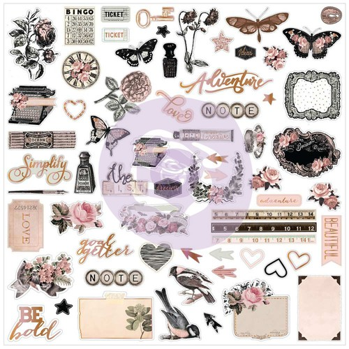 Prima Marketing Коллекция Amelia Rose - Ephemera with Foil Accents. Арт 596705