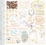 Набор бумаги Bee Shabby для скрапбукинга, 30*30 см коллекция Коллекция Happiness