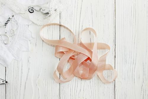 Шебби-ленты Бежевая роза