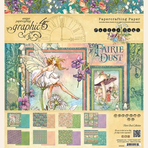 Набор бумаги Graphic 45 - Fairie Dust Collection - 8x8 Paper Pad.