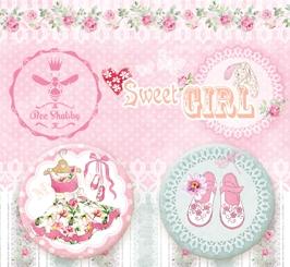 Набор украшений фишки коллекция Sweet GIRL  от Bee Shabby
