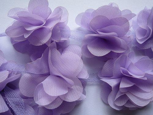 Шифоновые цветы Фиолетовые