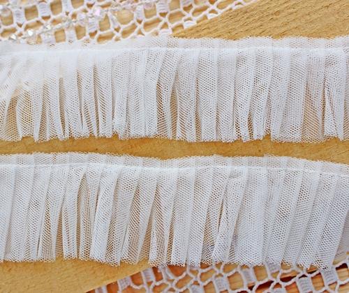 Кружево сетка двухслойное ivory
