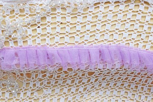 Кружево сетка двухслойное лавандовое
