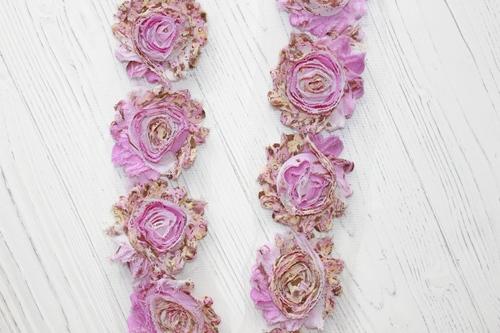 ЗD шифоновые розочки Розовый взрыв