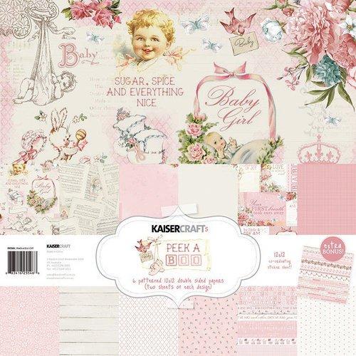 набор бумаги для скрапбукинга, 30*30 см коллекция Kaisercraft - Peek-A-Boo Collection-Girl