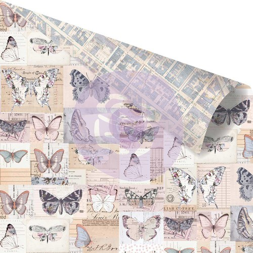 Prima Marketing. Коллекция Lavender. Paper - I'll Fly With you. Бумага для скрапбукинга. арт 848784