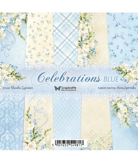Набор бумаги 6х6 Celebrations Blue от ScrapAndMe