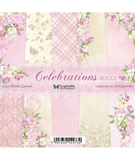 Набор бумаги 6х6 Celebrations Rouge от ScrapAndMe