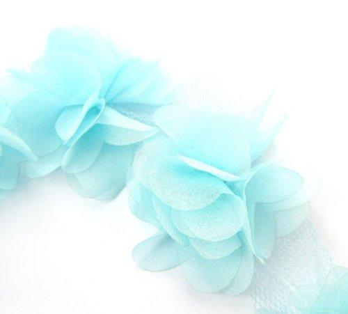 Шифоновые цветы бирюзовые