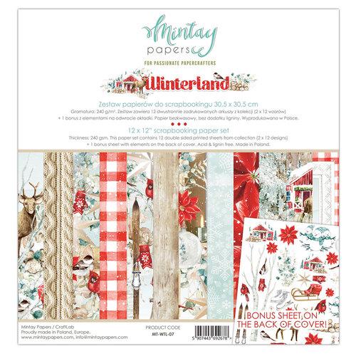 Набор бумаги 12х12 WINTERLAND  от Mintay Papers