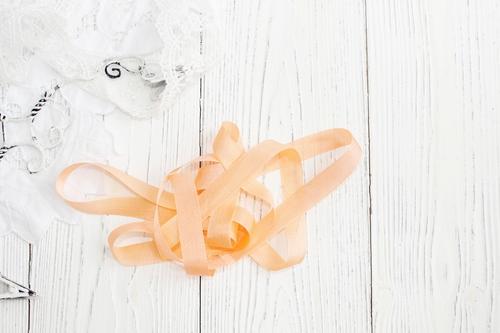 Шебби-ленты персиковый