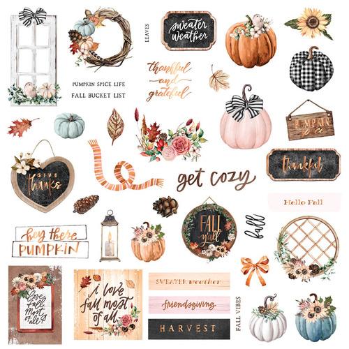Высечки от Prima Marketing Коллекция Pumpkin and Spice Ephemera. Арт 647834