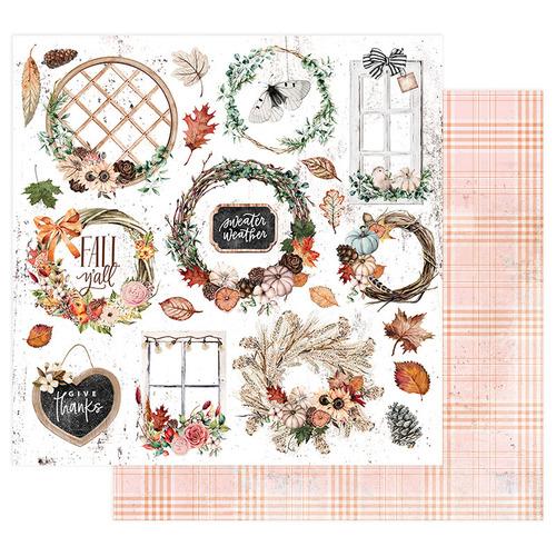 Prima Marketing-Pumpkin and Spice Collection Sweater Weather. Бумага для скрапбукинга. арт 849597.