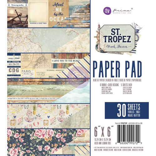 Prima Marketing St. Tropez Collection - Набор бумаги 15*15