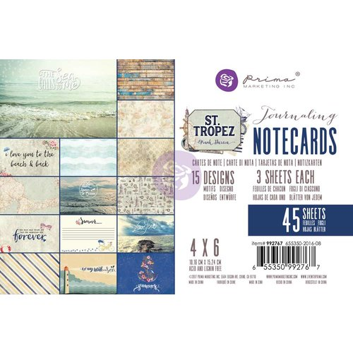 Prima Marketing St. Tropez Collection - 4х6 Journaling Cards
