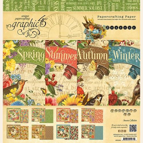 Набор бумаги  Seasons 12x12 Pad Graphic 45