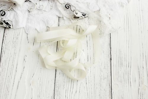 Шебби-ленты слоновая кость