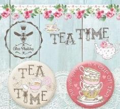 Набор украшений фишки коллекция TEA TIME от Bee Shabby