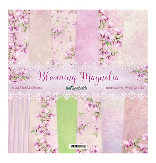 Набор бумаги 12х12 Blooming Magnolia от ScrapAndMe